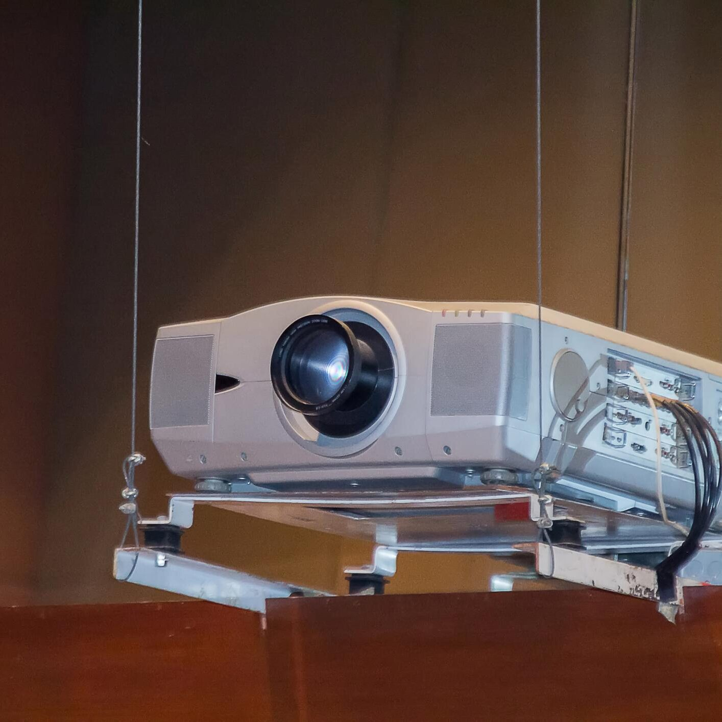 computer projector mounted in the ceiling